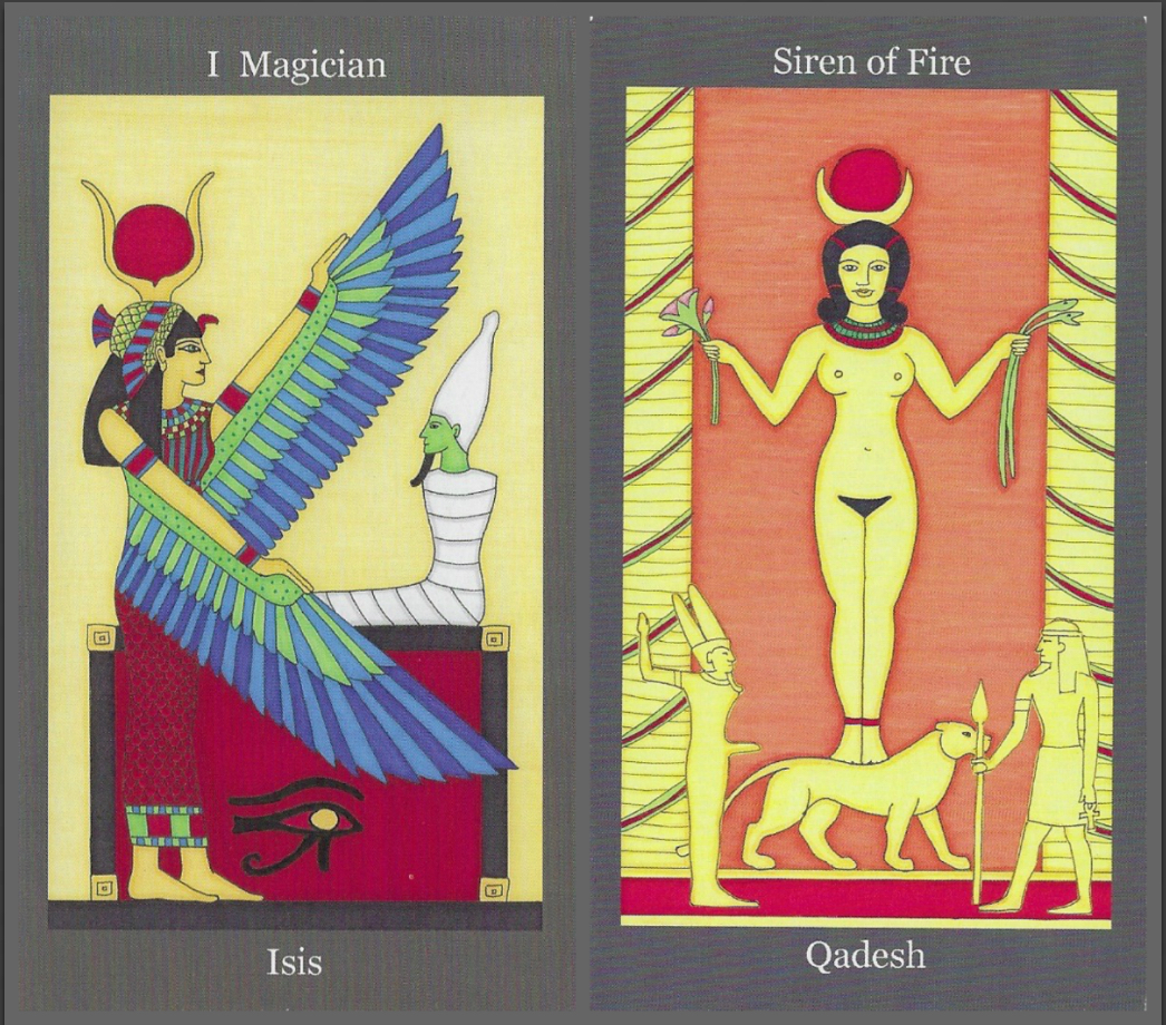 Magician and Siren of Fire - Dark Goddess Tarot by Ellen Lorenzi-Prince.jpg