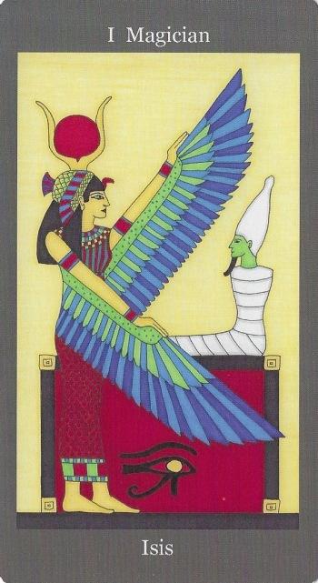 Magician ~ Isis - Dark Goddess Tarot by Ellen Lorenzi-Prince