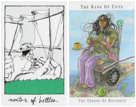 Mentor of Bottles - The Collective Tarot by the Tarot Collective; King of Cups - Next World Tarot by Cristy C. Road.jpg