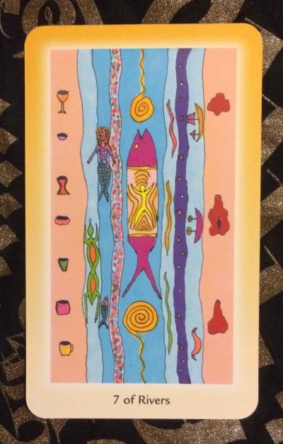 7 of Rivers - Shining Tribe Tarot by Rachel Pollack