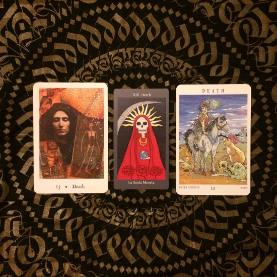Death - Pentimento Tarot, Dark Goddess Tarot & Next World Tarot