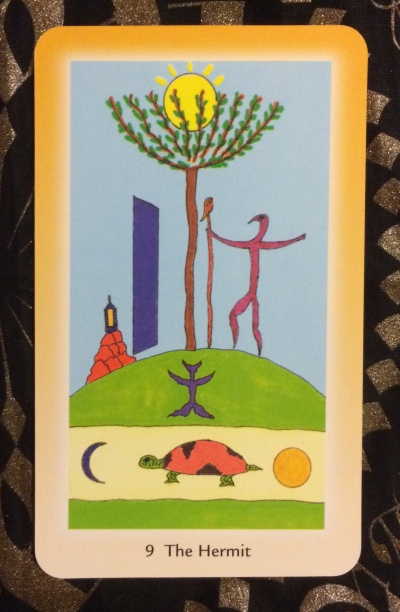 The Hermit - Shining Tribe Tarot by Rachel Pollack
