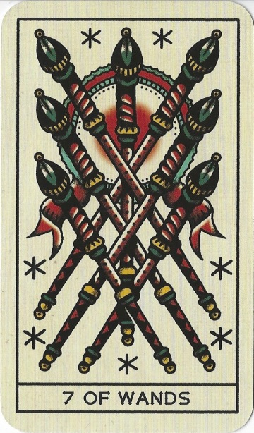 7 of Wands - Tattoo Tarot by Megamunden & Diana McMahon Collis.jpg