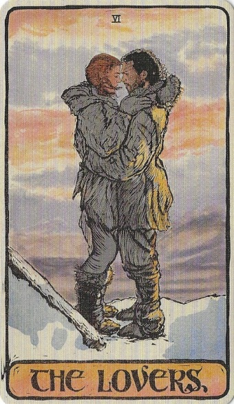 The Lovers - Game of Thrones Tarot by Michael Morris (Design), Liz Dean (Text) & Craig Coss (Illustrations).jpg