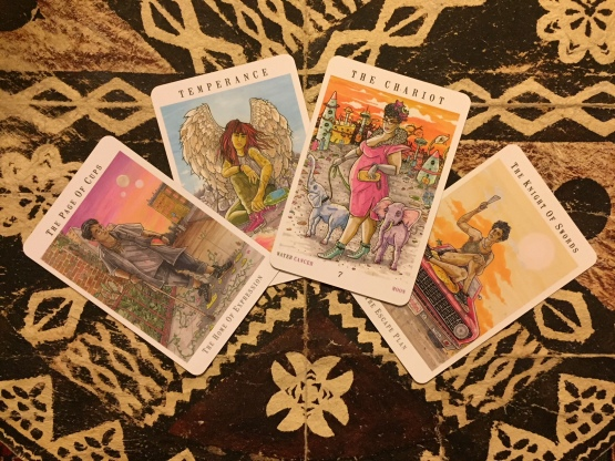 Next World Tarot by Cristy C. Road, photo by Psychic Sarah Barry