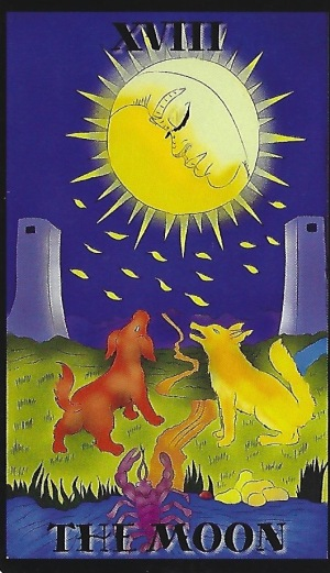 The Moon - Melanated Classic Tarot by Julia Goolsby & Oubria Tronshaw