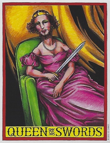 Queen of Swords - Le Grande Circus & Sideshow Tarot by Joe Lee