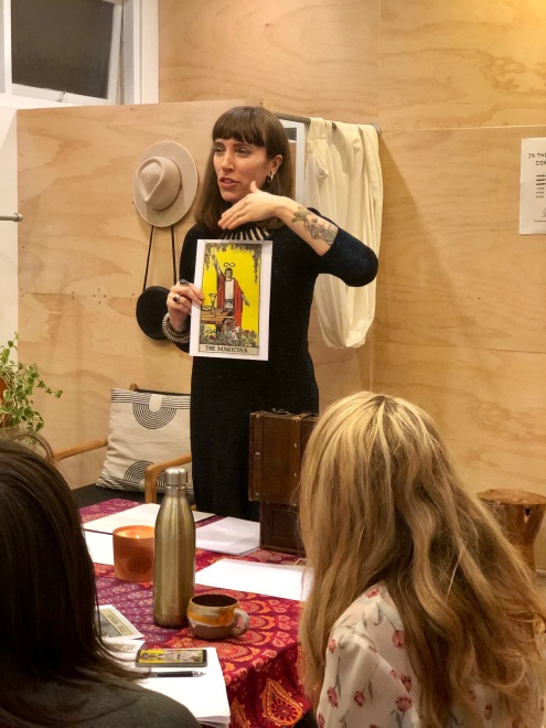 Psychic Sarah Barry teaching at Noel & Gladys I
