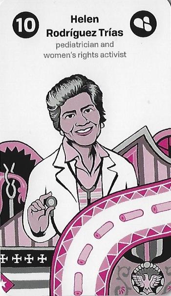10 of Micro (Wands) ~ Helen Rodriguez Trias - Women of Science Tarot by Nadja Oertelt, Matteo Farinella & Allan Lasser