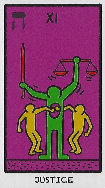 Justice - Tarot of the World in Colours by Eugene Vinitski